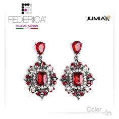 Earrings SOFIA 2  Pendant rhinestone and crystal earrings. Ruby. 2,800.00 Ksh http://www.federicafashion.com/ep178/earrings-sofia-2/ http://www.jumia.co.ke/federica-fashion/