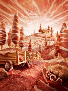 20 Mind Blowing Foodscapes - Compositing intricate landscapes by Carl Warner