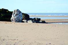 The Stone Ogre on Cleveleys beach - Visit Cleveleys Jubilee Gardens, Beach Watch, Out To Sea, Seaside Towns, Stone Sculpture, Go Green, Public Art, Great Places, Underwater