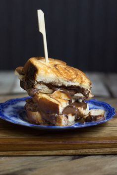 Banana, Nutella, And Brown Sugar Cinnamon Cream Cheese Grilled Cheese Sandwich - The Lazy Mom's Cooking Blog