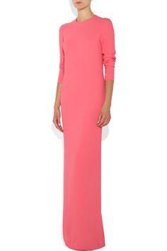 Stella McCartney - Pink, Full-Length, Long-Sleeved Formal Dress #StellaMcCartney #Formal