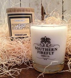 Peppermint & Eucalyptus Soy Candle | Home Decor & Lighting | Southern Firefly Candles | Scoutmob Shoppe | Product Detail