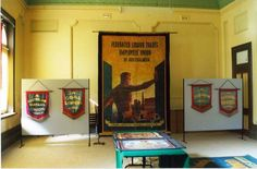 Part of exhibit, Broken Hill Trades Hall (2003?)