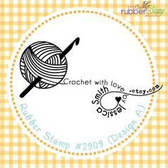 Magic Yarn Personalized Rubber Stamp  Crochet by myrubberstamp, $21.00