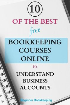 These are the best free bookkeeping courses online for anyone in business who must understand business accounts. Learn the bookkeeping language how to balance the books how to manage finances and cashflow how to use financial reports and more. Bookkeeping Training, Bookkeeping Course, Small Business Bookkeeping, Bookkeeping And Accounting, Small Business Accounting, Accounting And Finance, Online Bookkeeping, Quick Books Accounting, Accounting Notes