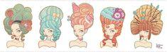 Marie Antoinette Hair Style Experiment by MeoMai.deviantart.com on @DeviantArt