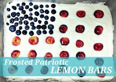 Patriotic Lemon Bars for July Fourth by Oh Lovely Day for Momtastic