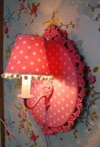 Lovely!  For a girls room. www.lampjesenzo.nl