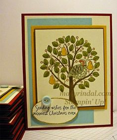 Partridge & Pears Swap Card {scrap and stamp with mary}: