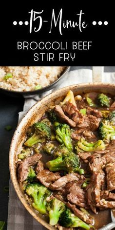 15 Minute Broccoli Beef Stir Fry Takeout doesn't have to be your own way to eat amazing broccoli beef stir fry. Make this simple version at home and you'll be amazed at how good it is. Save it for dinner tonight! Healthy Beef And Broccoli, Easy Beef And Broccoli, Slow Cooker Broccoli, Brocolli Beef Stir Fry, Beef Brocoli, Chinese Beef And Broccoli, Fried Broccoli, Brocolli Recipes, Easy Stir Fry