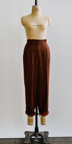 Copper Kettle Trousers / www.adoredvintage.com