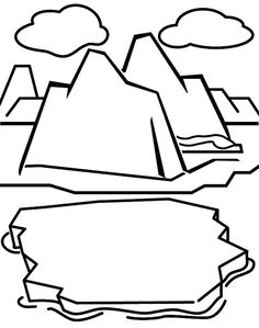 A Ship Passing Through Iceberg Coloring Pages