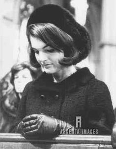 Jacqueline Kennedy prays during a memorial Mass for her deceased husband on January 19, 1964 in Boston.