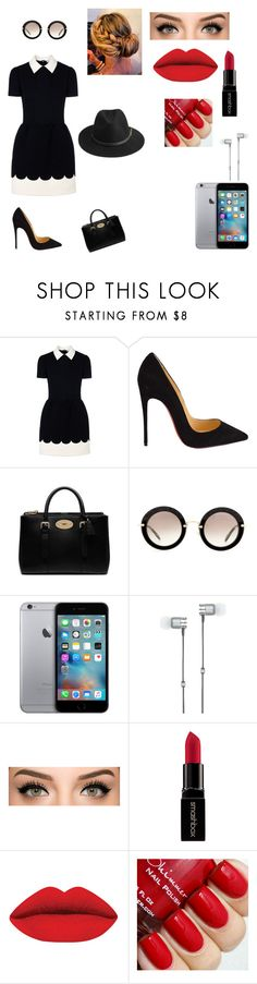 """""""ддд"""" by veronika-altanez on Polyvore featuring RED Valentino, Christian Louboutin, Mulberry, Miu Miu, Master & Dynamic, Smashbox, BeckSöndergaard, women's clothing, women and female"""