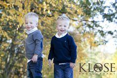 Fall kid session.  Twins.