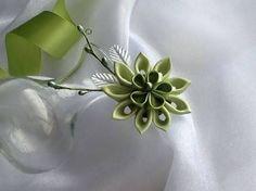 Resultado de imagem para kanzashi flowers