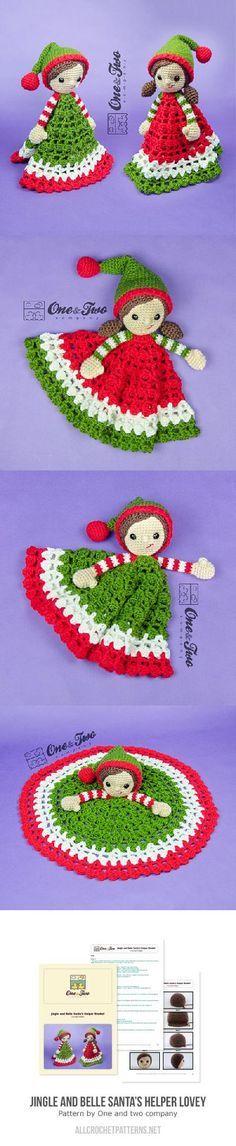 Jingle And Belle Santas Helper Lovey Crochet Pattern
