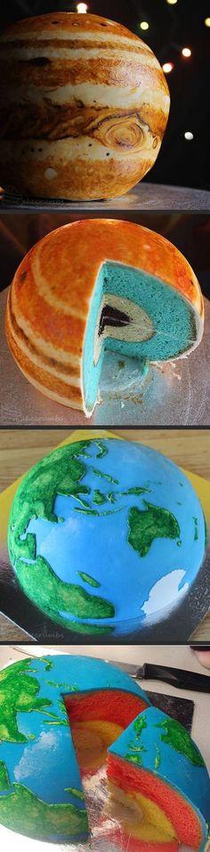 Awesome earth cake...