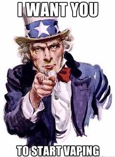 Even Uncle Sam wants you to switch to #vaping #VSUK