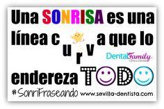 """""""Una sonrisa es una línea curva que lo endereza todo"""" #SonriFraseando #Citas #Frases #Sonrisa #DentistaSevilla #Dentista #Sevilla"""