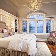 The bed, the chandelier, the wall colors, the window! I love it all!