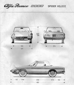 How long is yours? Alfa Romeo Spider Veloce measurements