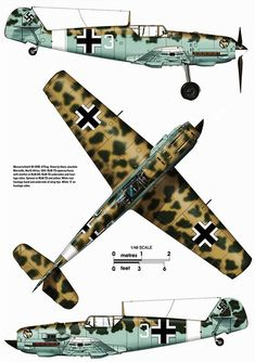 in North Africa Ww2 Aircraft, Fighter Aircraft, Military Aircraft, Luftwaffe, Bf 109 K4, Focke Wulf, Aircraft Painting, Ww2 Planes, Aircraft Design
