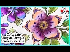 Colorindo Magical Jungle - FLORES - Parte 8 - YouTube