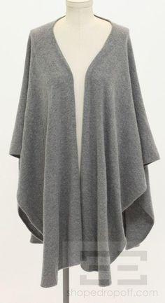 Cashmere Shawl | Neiman Marcus Grey Cashmere Wrap Shawl Top