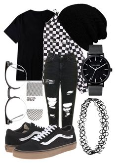 """manic depression is touching my soul"" by qimmig on Polyvore featuring Topshop, Vans, Spitfire and KBETHOS"