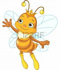 Buy Queen Bee Showing by Dazdraperma on GraphicRiver. Illustration of a queen cute bee presenting Cartoon Bee, Cartoon Clip, Cartoon Drawings, Honey Bee Images, Cute Bee, Bee Art, Bee Theme, Bee Happy, Laura Lee