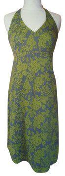 J.Crew Grey Green Tropical Dress $36