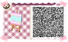 Animal Crossing: New Leaf & HHD QR Code Paths #2   Star crossed Pastel  waterway To go with star crossed path<--