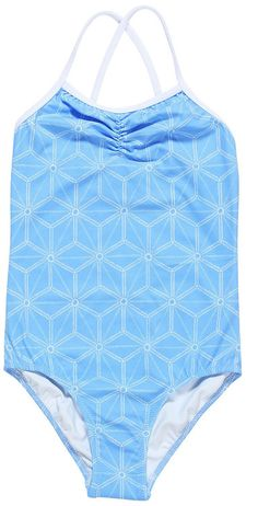 Light Blue Swimsuit with Urchin Print for Girls by Stella Cove see matching shorts for Baby Brothers