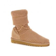 UGG Classic Argyle Knit Boots 5879 Chestnut $68.00 www.pintuggsboots.net