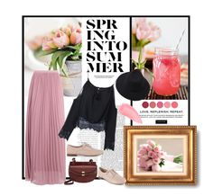 """""""Spring Into Summer"""" by esterbf ❤ liked on Polyvore featuring Clarks, Boohoo, Chloé, Chanel, Kevyn Aucoin, Kjaer Weis, Spring and polyvoreset"""