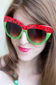 DIY Watermelon Sunglasses Tutorial - this is what I need for this summer to get better.