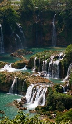 Vietnam, Natural Beauty, Waterfall, Landscapes, Environment, How Are You Feeling, China, Paintings, Awesome