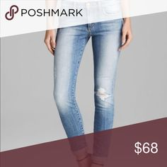 7 rolled skinny distressed jeans 7 rolled skinny distressed jeans 7 For All Mankind Jeans Ankle & Cropped