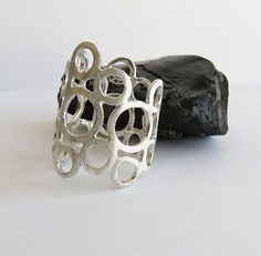 Sirrý Design - Circle Sterling Silver Ring Texture Scratched