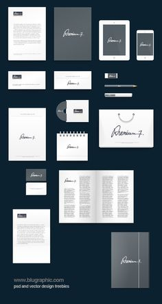 Free download -- Corporate Identity Photoshop Mock-up (Psd)