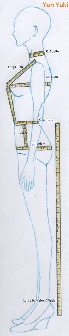 Measuring your body - Patronaje Yun Yuki: Toma de medidas parte 1