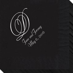 simple & sweet monogrammed napkins  ... Wedding ideas for brides, grooms, parents & planners ... https://itunes.apple.com/us/app/the-gold-wedding-planner/id498112599?ls=1=8 ... plus how to organise your entire wedding ... The Gold Wedding Planner iPhone App ♥