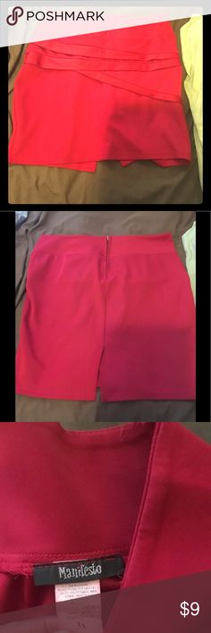 Bandage skirt Red bandage skirt size 3X slit at back manifesto Skirts Mini