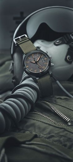 the Top Gun collection establishes itself as an independent formation within the IWC Pilot's Watch family. The year's high-flyer is the Top Gun Miramar: a tribute to the place in California where the myth of the elite pilots was born. Iwc Watches, Cool Watches, Watches For Men, Black Watches, Top Gun, Most Popular Watches, Iwc Pilot, Luxury Watches, Fashion Watches