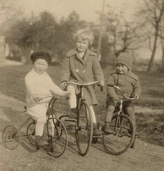 Children on Bikes Vintage Snapshot Photo by BallyDingRevue on Etsy, $12.00