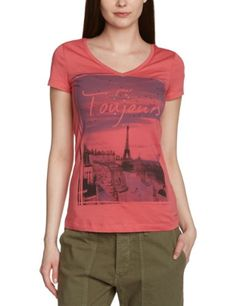 edc by ESPRIT Damen T-Shirt PROGRAM RICH