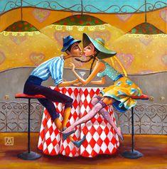 """fine art gallery of paintings - """"Naive"""" by Mariana Kalacheva"""