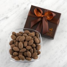 Dark Chocolate Caramelized Almonds for Dad!