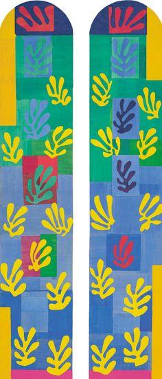 Henri Matisse Finestra azzurro chiaro (Vitrail bleu pâle), novembre 1948– gennaio 1949. Secondo bozzetto per la finestra della Cappella del Rosario a Vence. Musée national d'art moderne/Centre de création industrielle, Centre Georges Pompidou, Pari